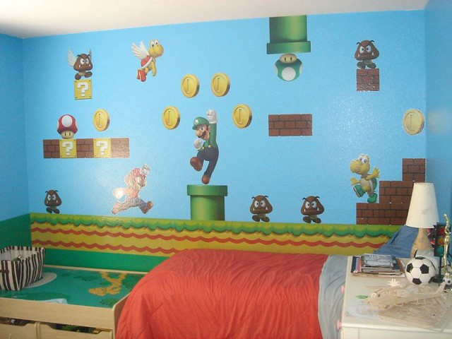 super mario bros wall mural shochetman flickr