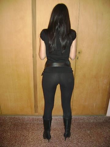 Womens Black Mid Heel Shoes