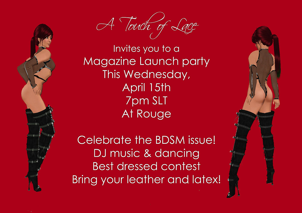 A Touch Of Lace Bdsm Issue Release Party Invitation  Flickr-1430