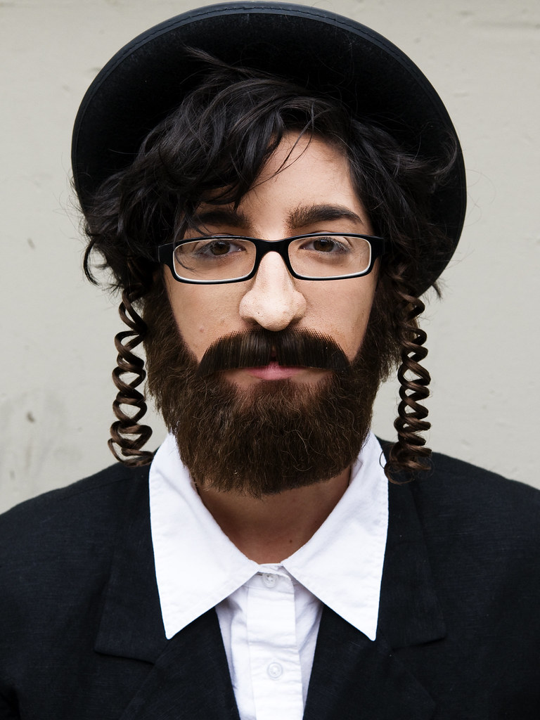 Hasidic Jew 2 Prosthetic Nose And Beard Appliance