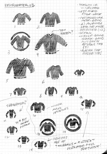 Red Sweater Logo Sketches v3 | by Mike Rohde