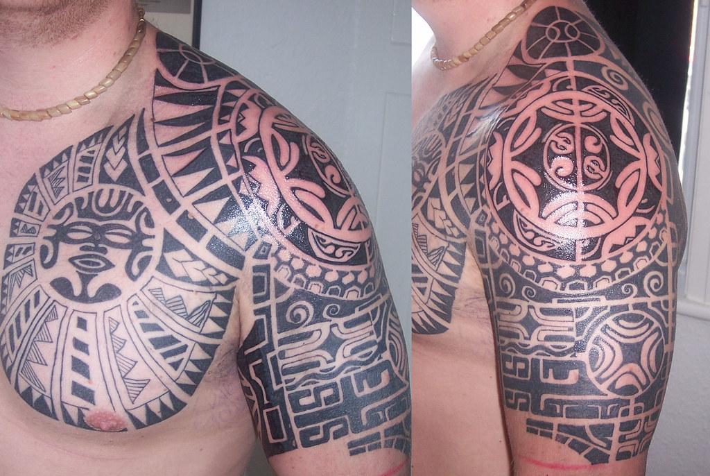 tribal shoulder tattoo complex tattoo on the shoulder and flickr. Black Bedroom Furniture Sets. Home Design Ideas
