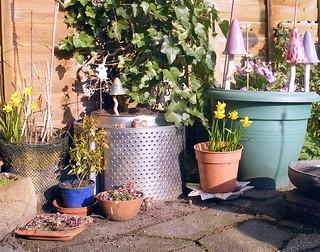 Assorted garden containers | by scrappy annie