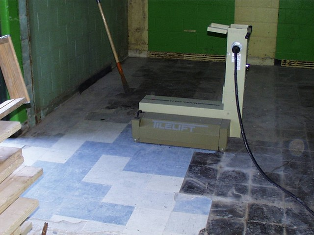 Asbestos Floor Tile Removal Infrared Method Example Of S