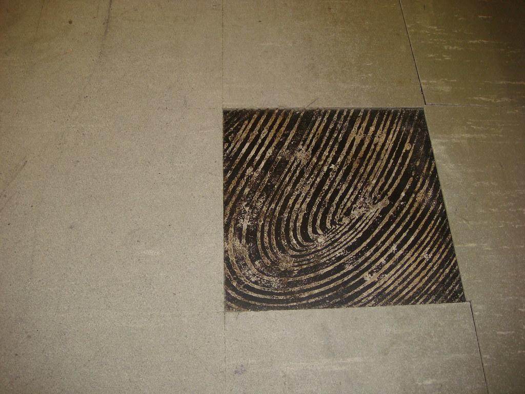 Asbestos Floor Tile Black Mastic Wear Damage Example O