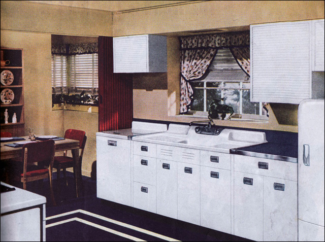 1940s Kitchen Design By Crane Source American Home Image Flickr