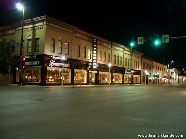 ... Zimmermanu0027s Furniture/Historic Webb Brothers Building At Night    Downtown Bismarck North Dakota | By