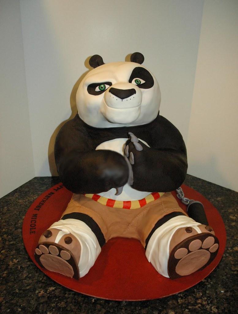 Kung Fu Panda Cake Huge 3 D Kung Fu Panda Cake Sculpture