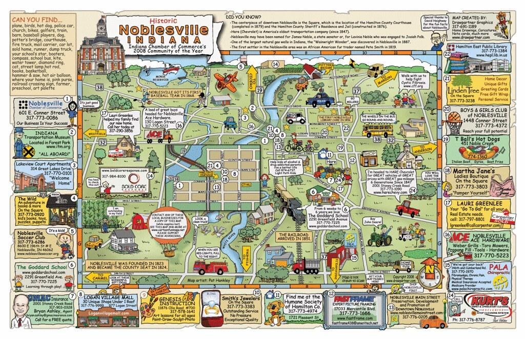 Noblesville Indiana Map  Tom Britt  Flickr