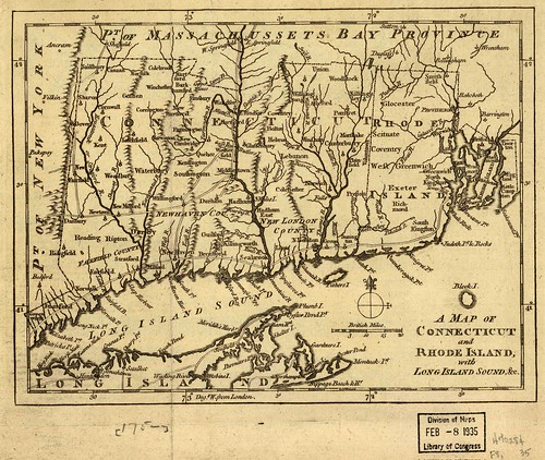 A map of Connecticut and Rhode Island, with Long Island Sound, &c. | by uconnlibrariesmagic