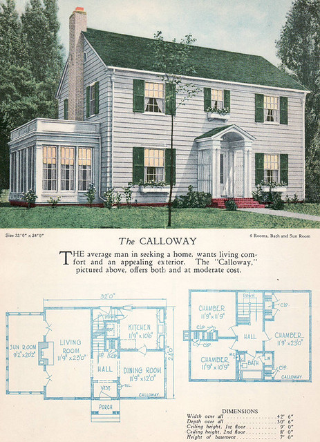 1928 home builders catalog the calloway from the for Usa home builders