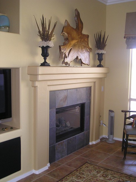 BEFORE Faux Wood Stone Fireplace Flickr Photo Sharing