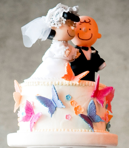 Charlie Brown And Lucy Wedding Cake Toppers
