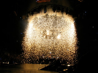Britney Spears Concert - Sparks Falling on Stage | by Anirudh Koul