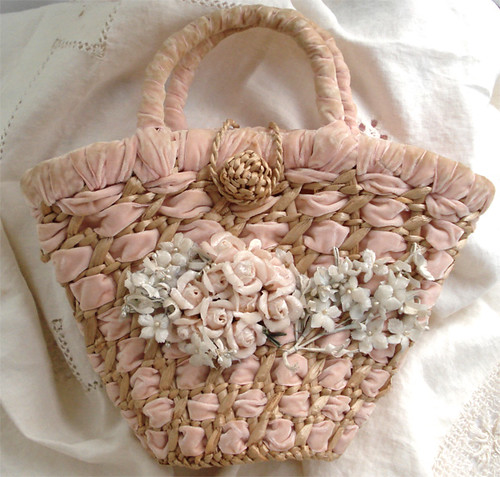 Vintage Purse with Millinery Flowers | by such pretty things