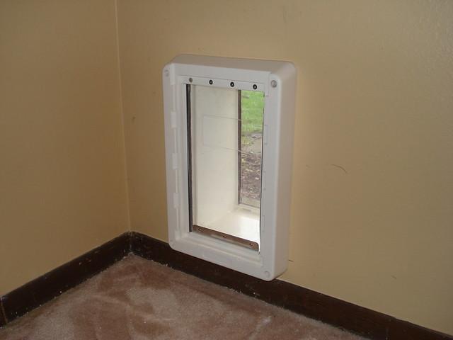 ... Interior Pet Door Pet Door Interior Surgically Cut Into Sheet Rock For  Insta Flickr Photo ...