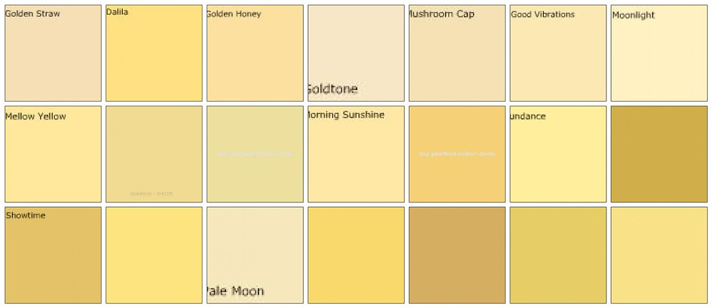 Glidden Yellow Paint Colors