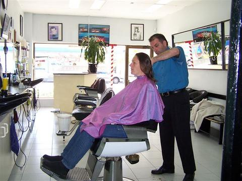 women getting haircuts at the barbers an album on flickr www flickr ...