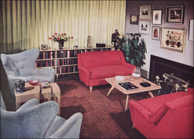 1950s living room heywood wakefield modern home - 1950 s living room decorating ideas ...