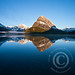 Mount Grinell Reflected in Swiftcurrent Lake at Sunrise