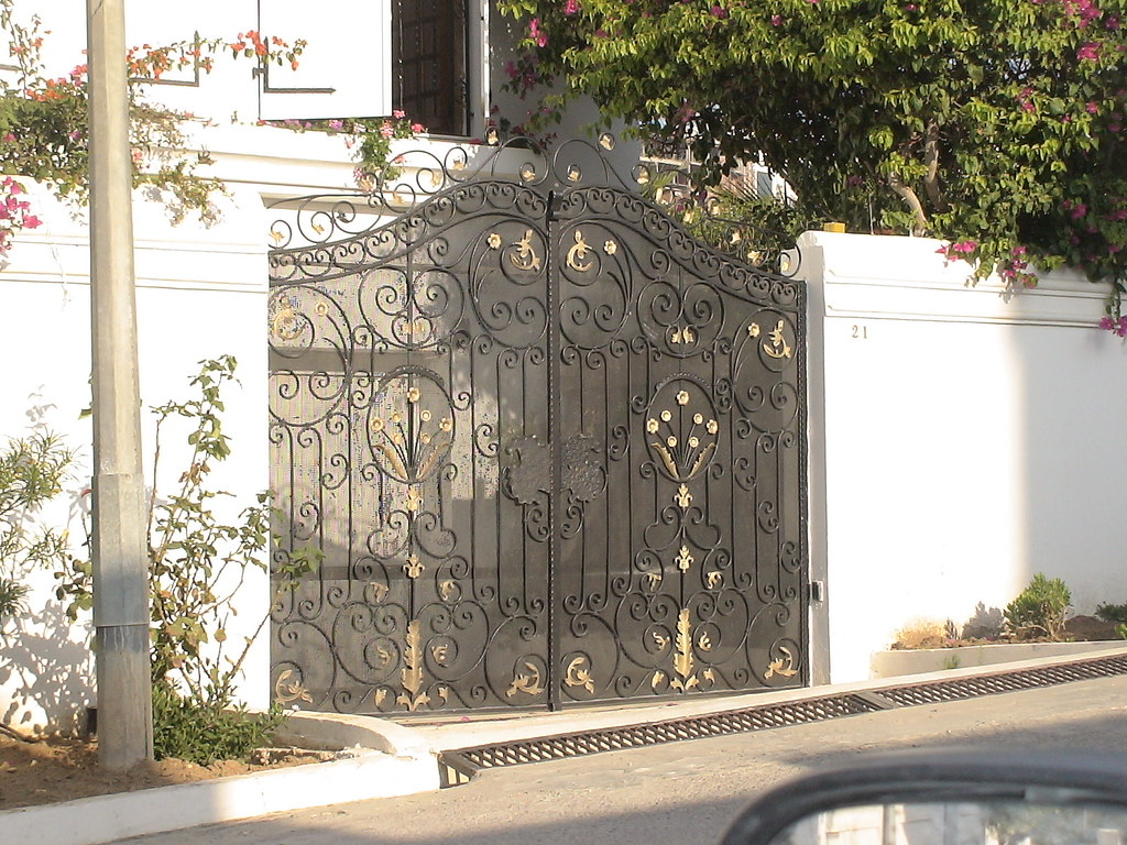Porte ext rieure en fer forg tunis maisons citizen59 for Decoration des portes en fer
