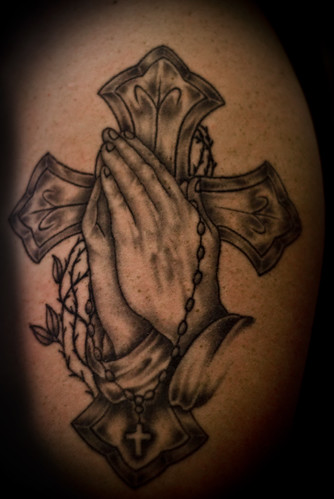 Praying hands with Rosary and Cross   Flickr - Photo Sharing!