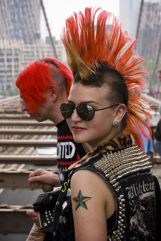 Girl With A Red Mohawk A Pitch Flickr