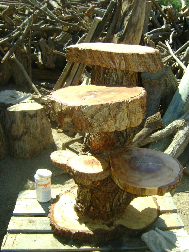 muebles rusticos de troncos  repisa de sauce amargo de 6 ro