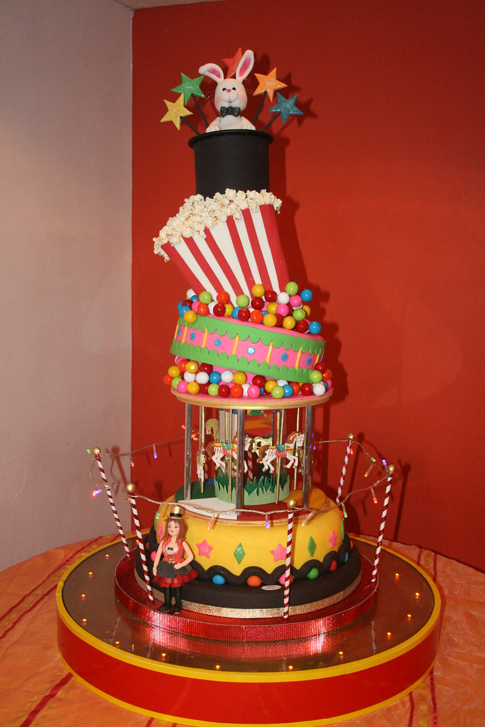 Circus Cake Tha Hat The Pop Corn Box And The Other 2