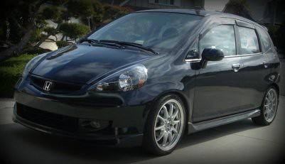 2007 Honda Fit Lowered on Jdm