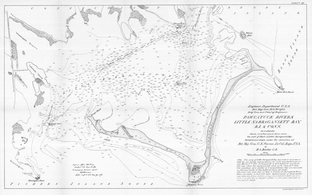 Little Narragansett Bay Map Pawcatuck River And Little Narragansett Bay r i And Conn in 3 Sheets