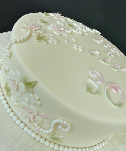 Pearl Wedding Anniversary Cake Flickr - Photo Sharing!