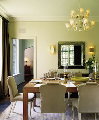 Pale green dining room designed by thad hayes photo from flickr - Pale green dining room ...