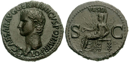 GAIUS CALIGULA. Vesta As- RIC 38 37-41 AD. Æ As - Joe Geranio Collection Anyone May Use as Long as Credit is Given-(Joe Geranio Collection JCIA) | by Joe Geranio