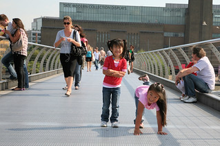 Maddy and Gwen on Millenium Bridge.jpg | by Donna & Andrew