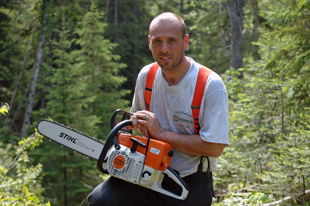 STIHL MS 361   My new chainsaw. There is no safe tree.   Troy Dereski ...