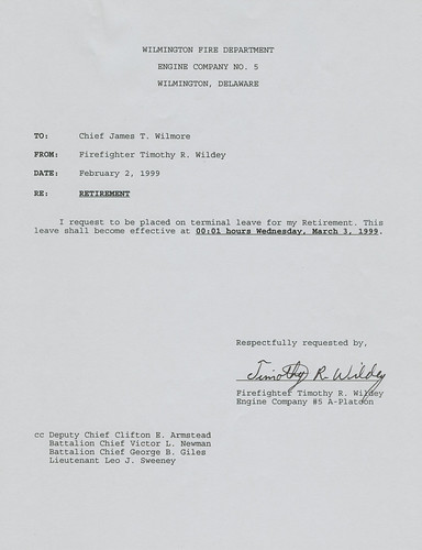 wilmington fire department delaware retirement letter to the chief flickr photo sharing