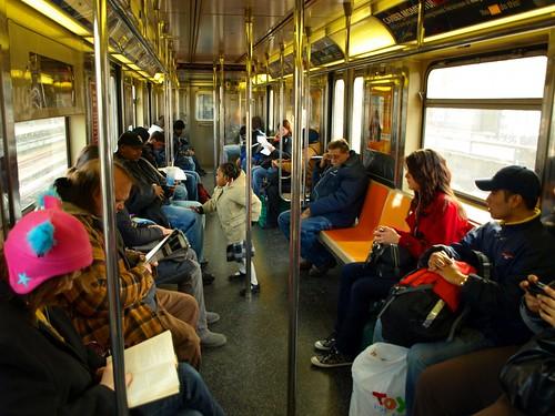 Inside A Number 1 Subway Car Manhattan New York City