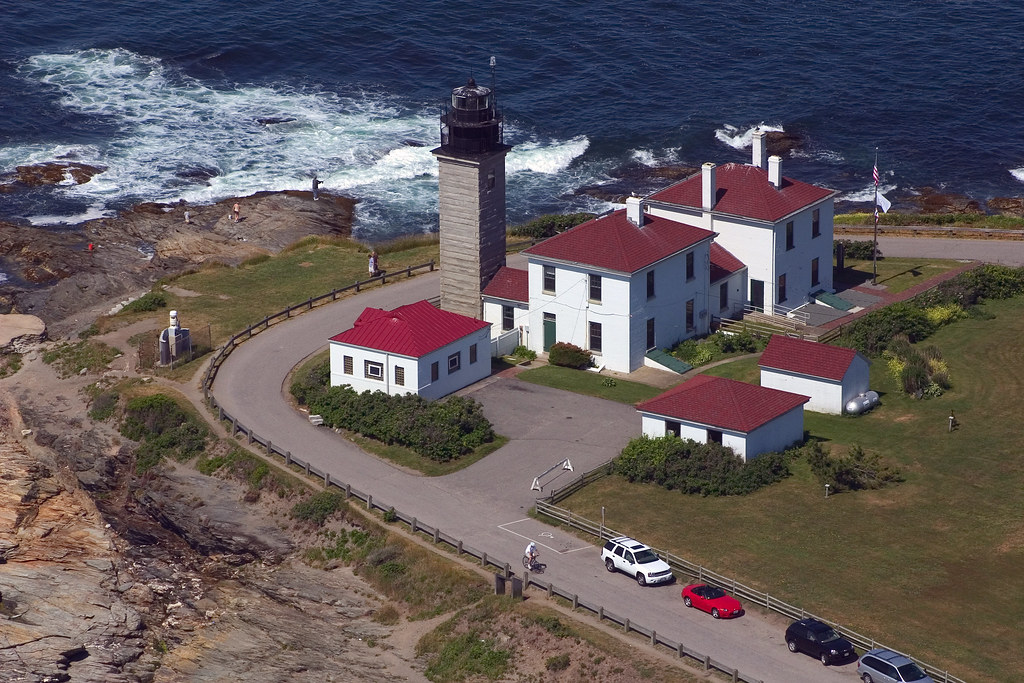 Beavertail Lighthouse Rhode Island Aerial View Of