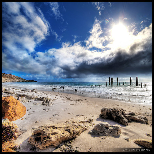 The Battle of the Bright Sun & the Dark Clouds :: HDR :: Vertorama | by :: Artie | Photography ::
