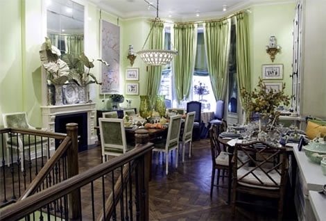 Charlotte Moss S Celery Green Dining Room The Dining
