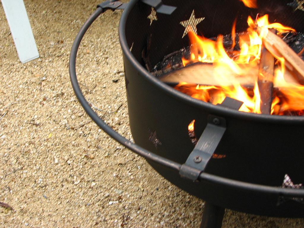 backyard campfire... | for hotdogs and marshmallows ...