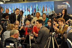 Ed Miliband visits the G20Voice desk | by webwandering