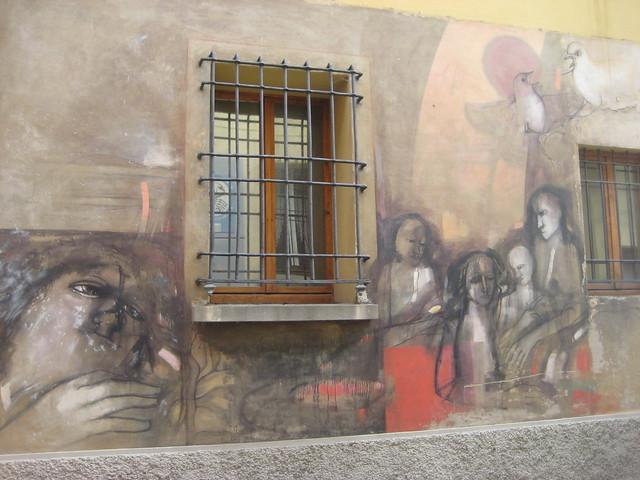 Dozza Italy  city images : Wall painting in Dozza, Italy
