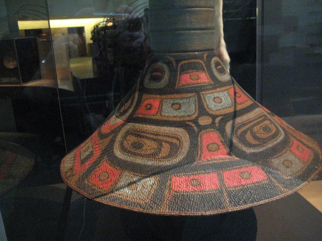 tlingit man u0026 39 s hat with potlatch rings