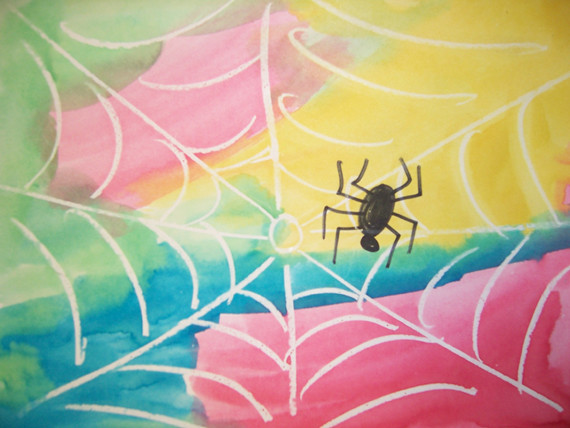 Spider crayon resist age 3 4 class story time art for Arts and craft websites