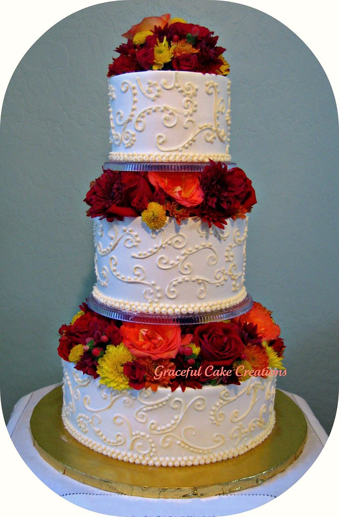 elegant fall wedding cakes fall wedding cake grace tari flickr 13960