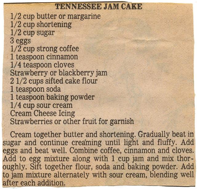 Tennesse Jam Cake