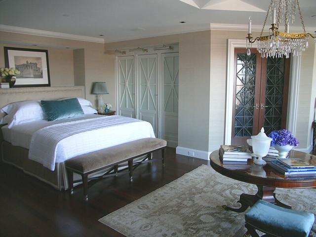 Frank Roop frank roop: rich neutrals + blue in formal bedroom | flickr