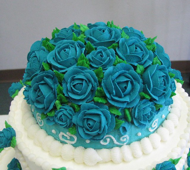 turquoise green and pink wedding cakes turquoise wedding cake topper i used a mini half 21307